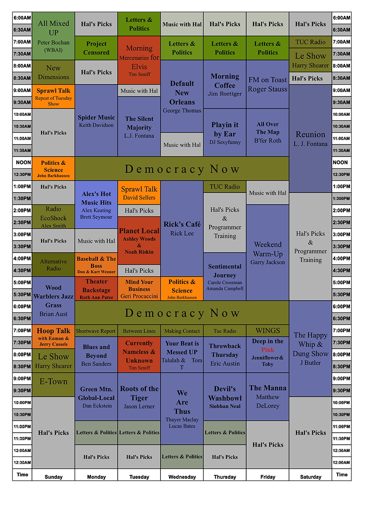wmrw schedule draft 03.30.18a